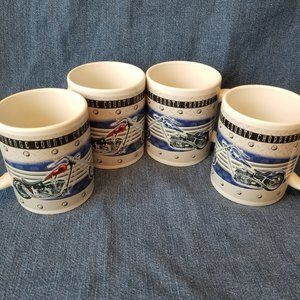 Lot of 4 Orange County Choppers Coffee Cups (2006)